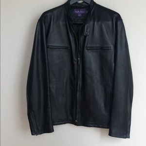 Men's Ralph Lauren Blk Leather Jacket